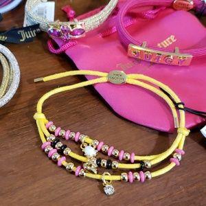 3 bracelets & 6 embellished hair ties